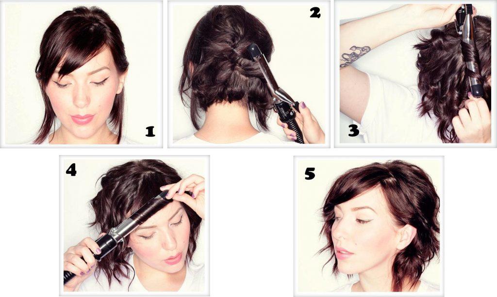 Как завить короткие волосы в домашних условиях 492