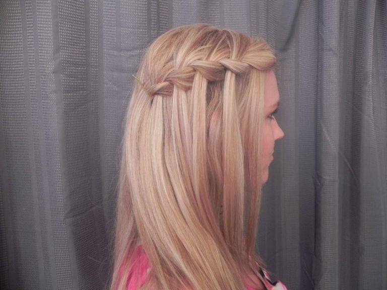 Прическа водопад на прямые волосы