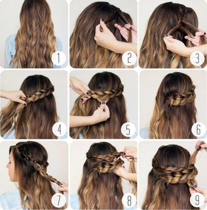 Как сделать прическу с распущенными волосами