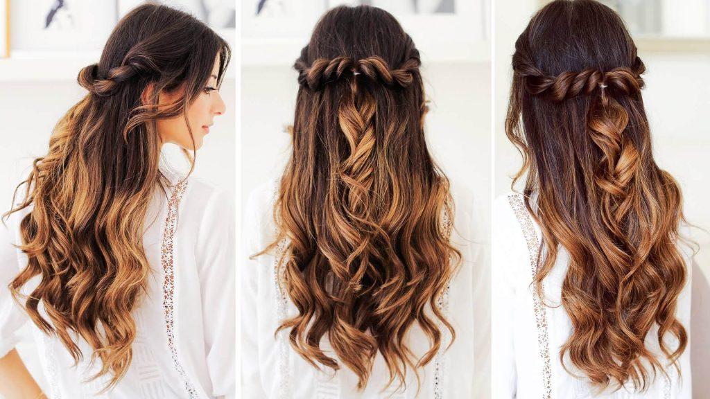 Как сделать прическу с распущенными волосами?
