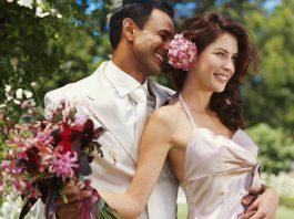 невеста и темнокожий жених