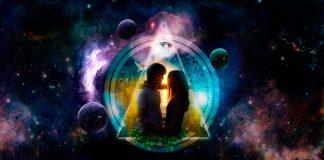 парень и девушка в космосе