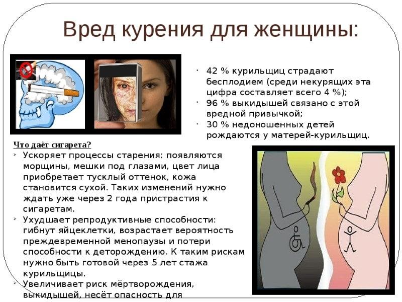 вред курения для женщины