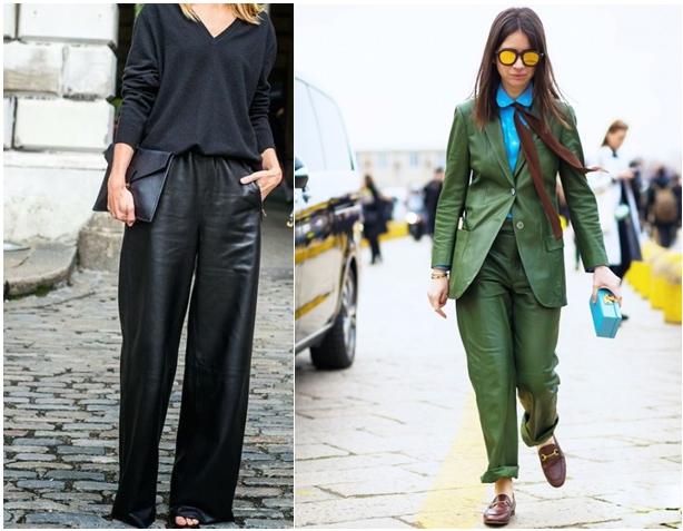 кожаные брюки 1